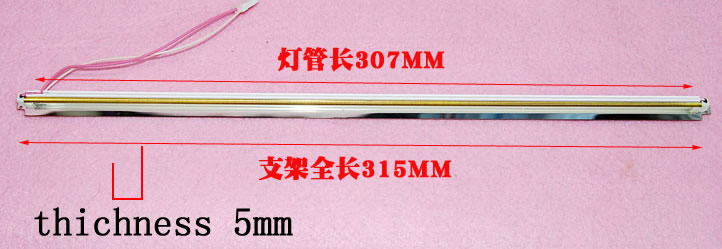 307mm ccfl harness kit thickness 5mm for 14inch widescreen 15inch notebook LCD