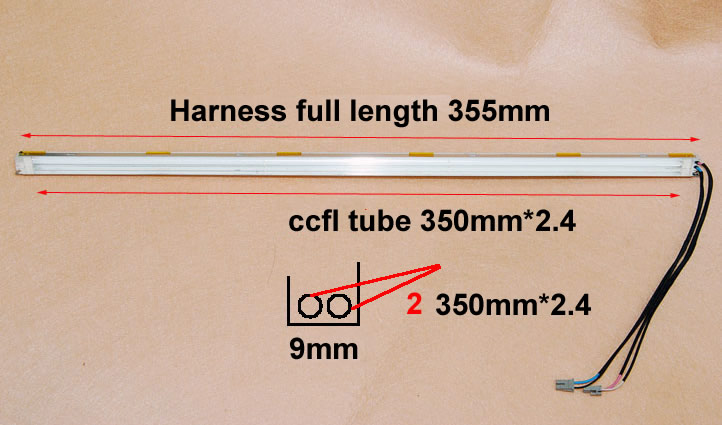 355mm CCFL harness 17inch 9mm thickness 1 Pair