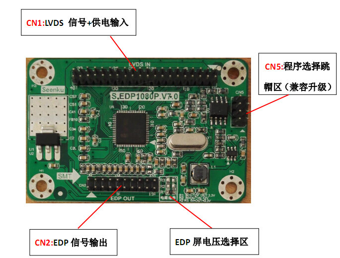 EDP TO LVDS ADAPTER CARD