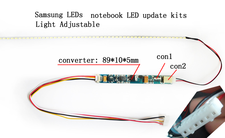 "10"" Notebook LCD update to LED kits 220mm LED strip"